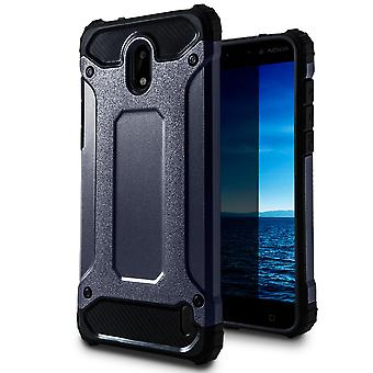 Mobile Protection for Nokia 2   Hard Hybrid Shell in Blue
