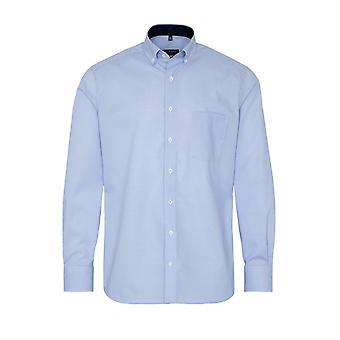 Eterna Casual Eterna Modern Fit Long Sleeved Shirt Light Blue Check