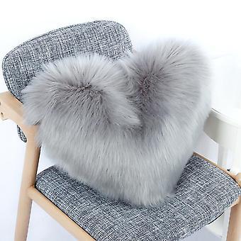 Nordic Plysj pute myk fylt kjærlighet hjerteform sofa pute leker for dukke-
