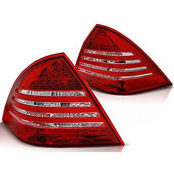 Światła tylne MERCEDES C-Class W203 SEDAN 00-04 RED BRIGHT LED