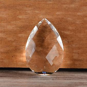 Drop Shaped, Clear Glass Crystals Prisms-diy Decor