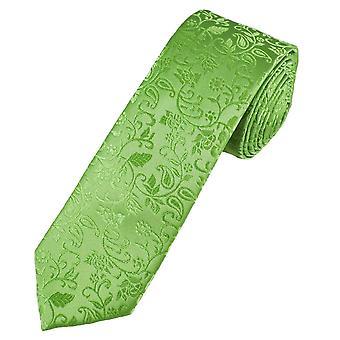 Corbatas planeta oro etiqueta sage verde hojas de uno mismo patrones hombres's seda flaco corbata