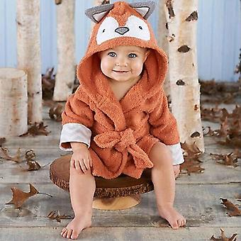 Cute Boys Girls Animal Ears Badrobe Hooded Towel Baby Baby Long Sleeve Belt