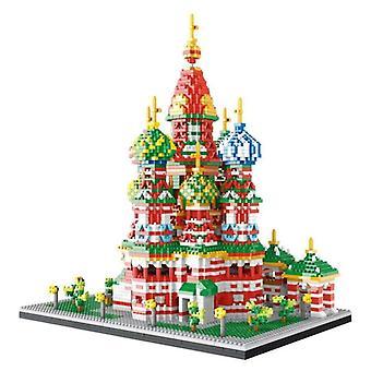 Diy Mini Diamond Block, Beroemde Stadsarchitectuur, Wassili Kathedraal-educatieve
