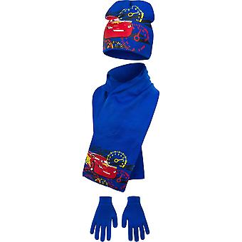 Disney cars boys hat scarf and gloves set