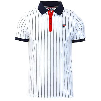 Fila Classic Vintage Camisa polo listrada branca 09