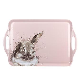 Wrendale Designs Bathtime Rabbit Large Plateau