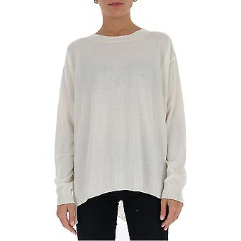 Semi-couture Y0wc01a010 Women's White Wool Sweater