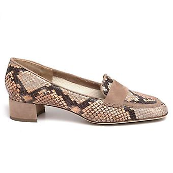 Luca Grossi Women's Moccasic In Cipria Python Leather
