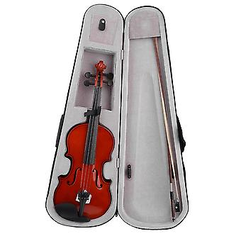 High Size Full Size Solid Wood Natural Acoustic Violin Violin Fiddle con papillon della custodia