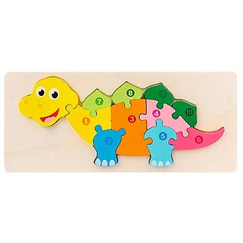 Montessori Wooden Educational's 3d Animal Matching Puzzle Building Block Busy