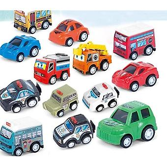 Vehicle Pull Back Car Plastic Toys, Christmas New Year's Educational