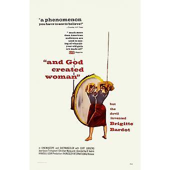 Und Gott schuf die Frau Movie Poster drucken (27 x 40)