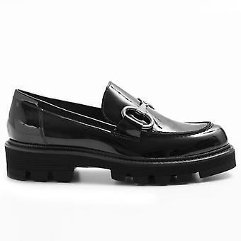 Damen Loafers Alfredo Giantin Schwarz In Farbe