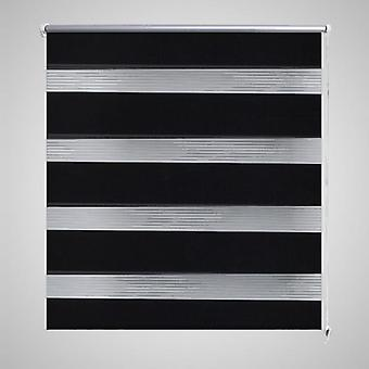 Double roller blind 120 x 230 cm schewarz