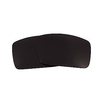 Replacement Lenses for Oakley Gascan S Sunglasses Anti-Scratch Dark Black