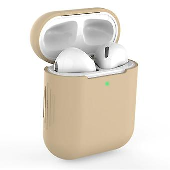 SIFREE Flexible Case for AirPods 1/2 - Silicone Skin AirPod Case Cover Supple - Beige