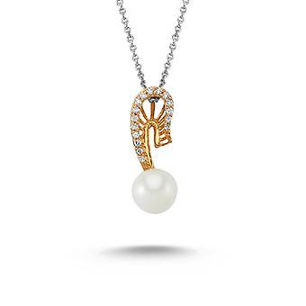 perle diamant halskjede
