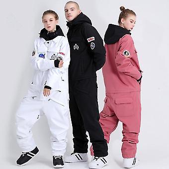 Couple Suit Men Women Snowboard Set Jacket Pants Trousers