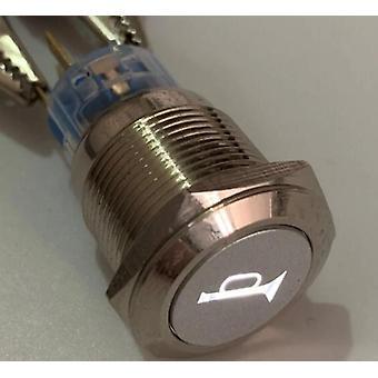 Beleuchtetes Horn Symbol Momentary Push Button Schalter