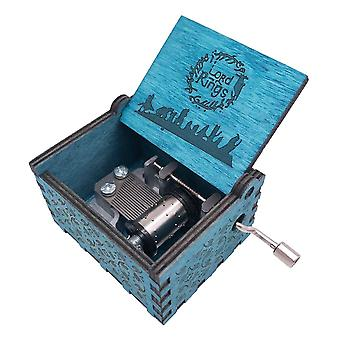 Lord Of The Rings Movie Theme Music Box, Wooden Engraved Hand Crank Musical Toy