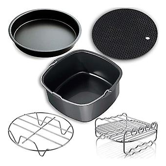Air Fryer Accessories Cake Pizza Cage Steaming Frame Grill Insulation Pad