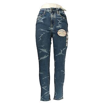 American Rag Cie Women's Jr Jeans High Rise Skinny Sculpt Stretch Blue