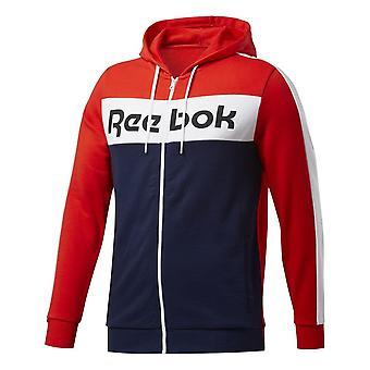 Reebok TE Linear Logo FZ Felpa con cappuccio FU3125 universale tutto l'anno uomo felpe