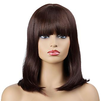 Brand Mall Wigs, Lace Wigs, Realistic Bangs Short Curly Hair