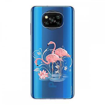 Kadłub dla Xiaomi Poco X3 NFC w silikonowym soft 1 mm, Flamingo Rose