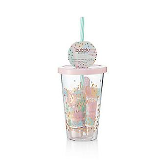 Style & Grace Bubble Boutique Travel Cup Mini Collection Gift Set 4 Pieces (This Set Includes: 1 x 30ml Hand Lotion 1 x 8ml Lip Gloss 1 x Nail File 1 x Travel Mug)