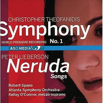 Theofanidis/Lieberson - Christopher Theofanidis: Symfonie nr. 1; Peter Lieberson: Neruda liedjes [CD] USA importeren