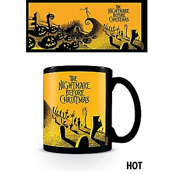 Nightmare Before Christmas Graveyard Scene Heat Changing Mug