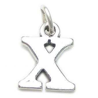 Letter X Initial Sterling Silver Charm .925 X 1 Letters Charms Pendant - 4250
