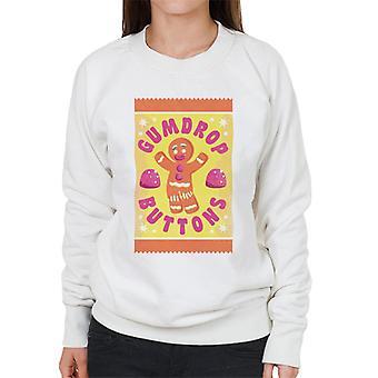 Shrek Gingerbread Man Gumdrop Buttons Women's Sweatshirt