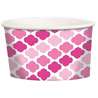 Candy Tray Pink 12 Piece 9.5 Cm