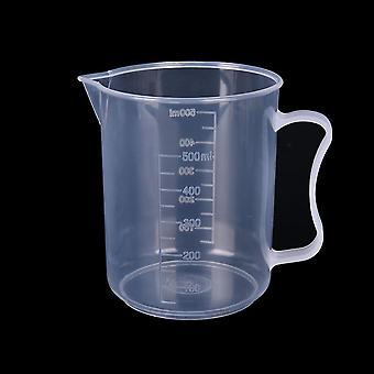 Copo de medição graduado em plástico para assar copo de jug de medida líquida de béquer