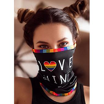Mapale Black Love One Size Face/Neck Bandana