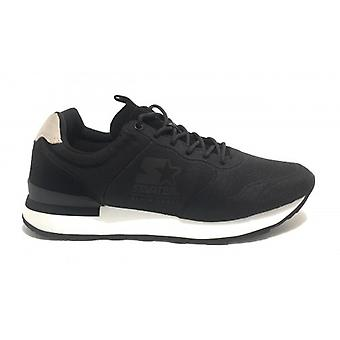 Running Men's Starter Sneaker In Nylon/ Suede Black Color U20st03