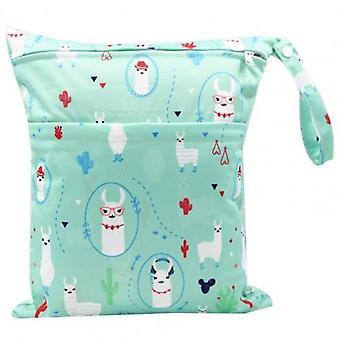 Storage Bag, Portable, Waterproof, Double Zipper, Cartoon Printing Storage