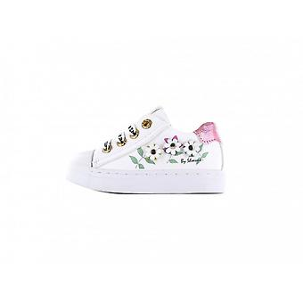 SHOESME Laced & Zipped Shoe With Flowers
