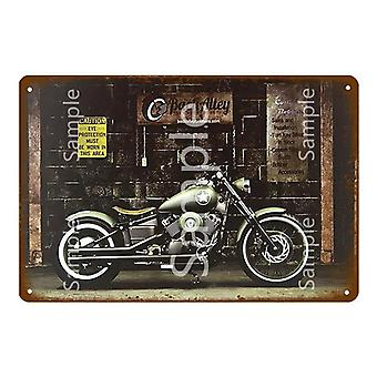 Classic Motorcycle Metal Sign, Home Decor, Vintage Tin Signs, Garage Decorative