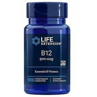 寿命延長ビタミンB12 500 mcg 100ロゼンジス