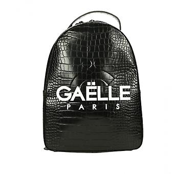 Women's Bag Gaëlle Backpack Ecolea leather Print Black Coconut With Logo Bs21ge27 Gbda2193