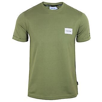 Calvin klein men's delta green turn up sleeve t-shirt