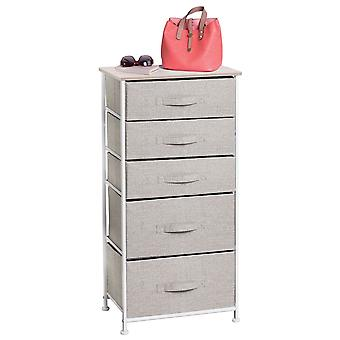 mDesign Vertical Dresser Storage Tower mit 5 Schubladen