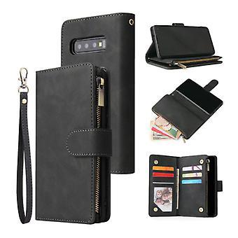 Stuff Certified® Samsung Galaxy S9 Plus - Leather Wallet Flip Case Cover Case Wallet Black