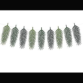 Tropical Leaf Garland   Party Decorations Aloha Birthday Party Bunting 2m