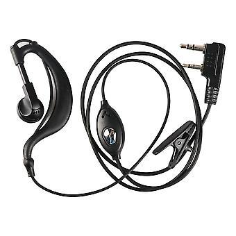Uv5r Plus Bf-888s korvakoukkukuuloke 2 nastan kuulokekuulokkeet PTT Mikrofonilla