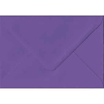 Intense Purple Gummed Greeting Card Envelopes. 135gsm GF Smith Paper. 125mm x 175mm. Banker Style Envelope.